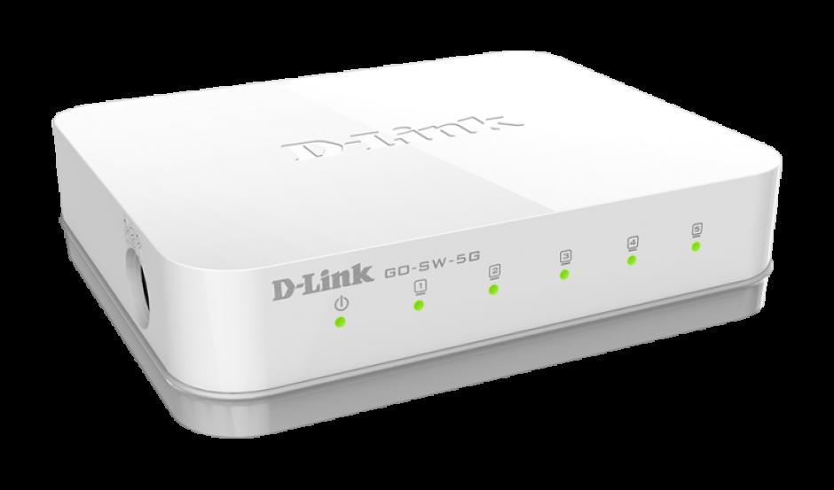 Imagine Switch 5 porturi Gigabit, D-LINK GO-SW-5G