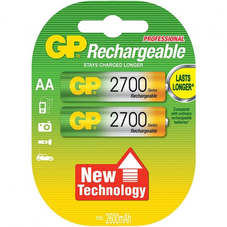 Imagine Set 2 acumulatori AAA 2700mAh, GP Batteries