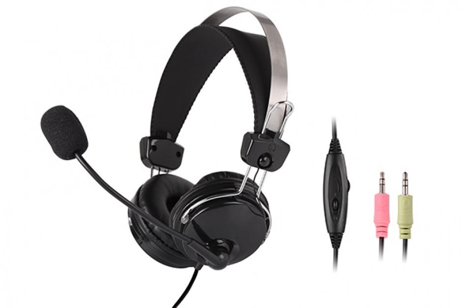 Imagine Casti cu microfon flexibil Comfortfit, A4TECH HS-7P-1