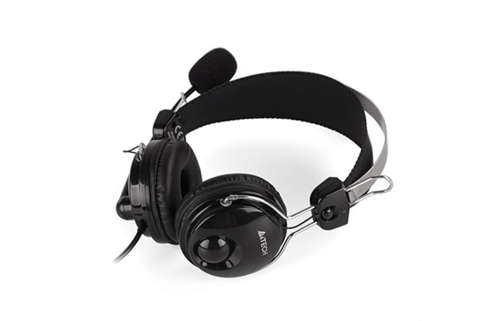 Imagine Casti cu microfon flexibil Comfortfit, A4TECH HS-7P-2