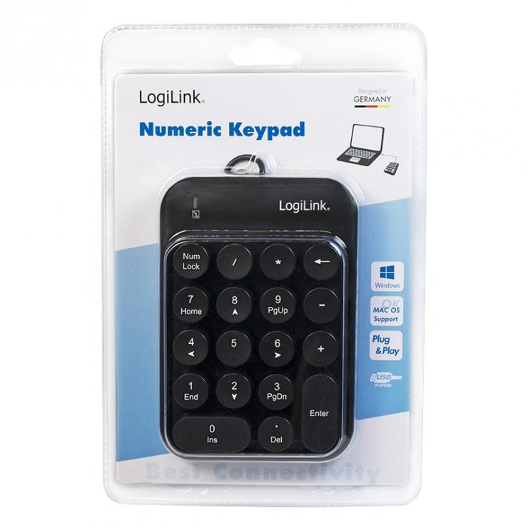 Imagine Tastatura numerica USB, Logilink ID0174-4