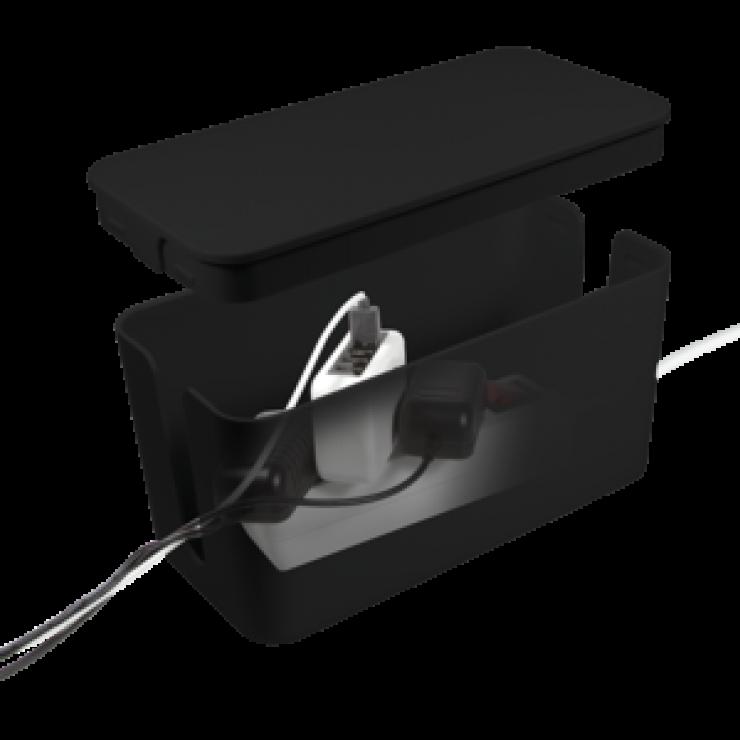 Imagine Cutie pentru organizare cabluri neagra 235x115x120mm, Logilink KAB0060