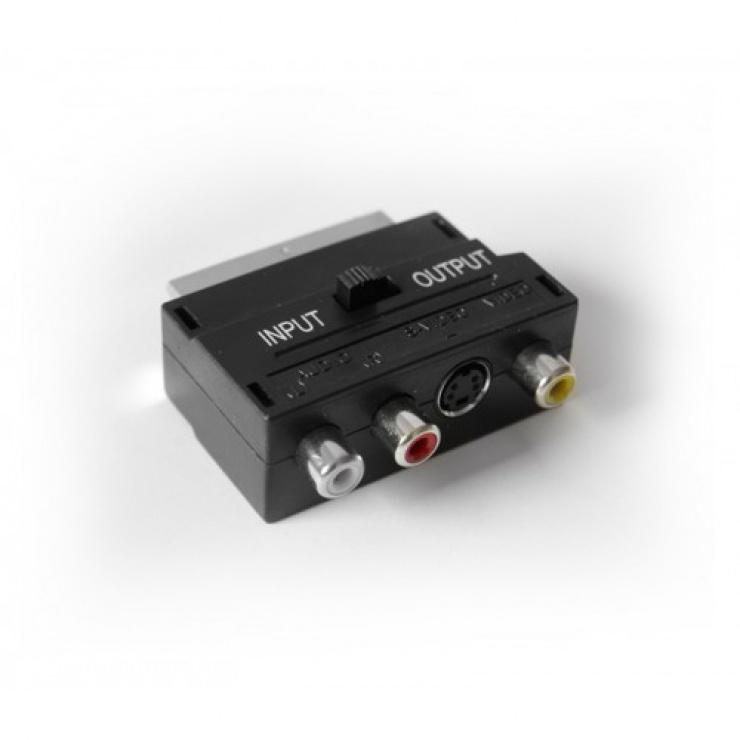 Imagine Adaptor Scart la 3 x RCA + S-video, KTCBLHE12020