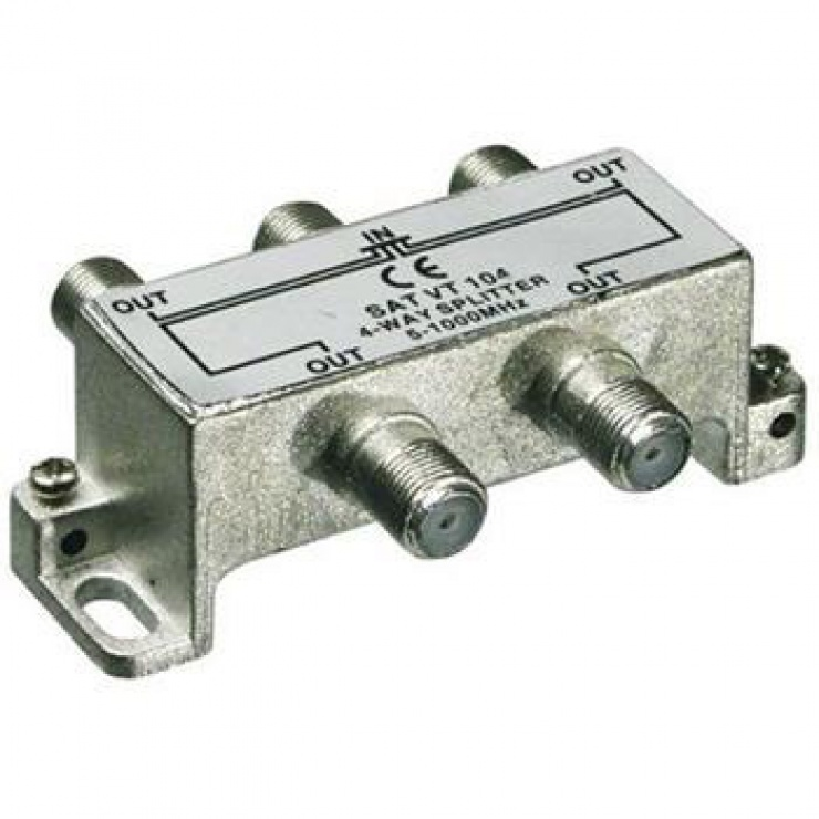 Imagine Splitter coaxial (antena tv) 4 porturi 5-1000 MHz, KTF14