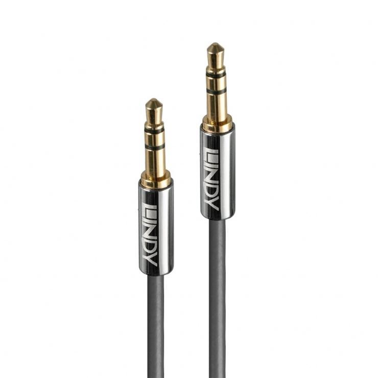Imagine Cablu audio jack stereo 3.5mm CROMO LINE T-T 3m, Lindy L35323