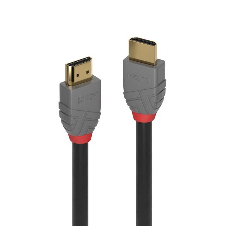 Imagine Cablu HDMI Ultra HD 4K Anthra Line T-T 1m, Lindy L36962