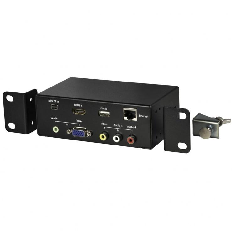 Imagine Priza birou Multi Audio Video la HDMI, Lindy L38270-3