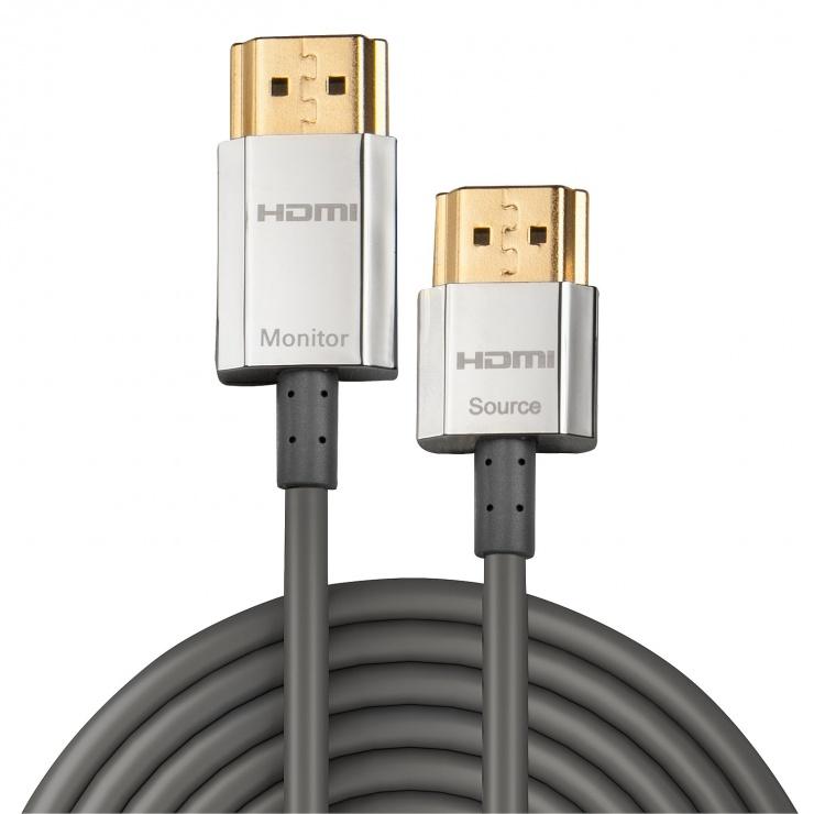Imagine Cablu HDMI activ 4K 2.0 Premium CROMO Slim T-T 3m, Lindy L41675-1