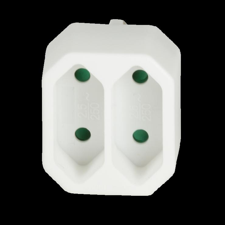 Imagine Multipriza 2x Euro Alb, Logilink LPS218