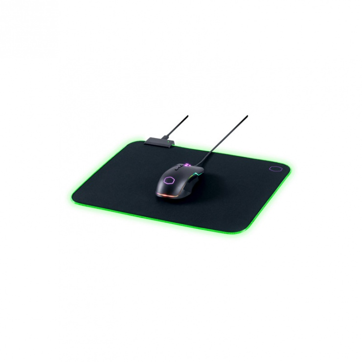 Imagine Mouse pad Gaming RGB 370 x 270 Negru & Mov, Cooler Master MPA-MP750-M-6