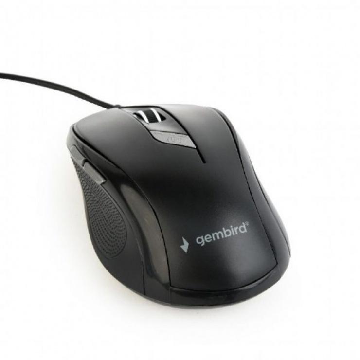 Imagine Mouse optic USB 6 butoane Negru, Gembird MUS-6B-01
