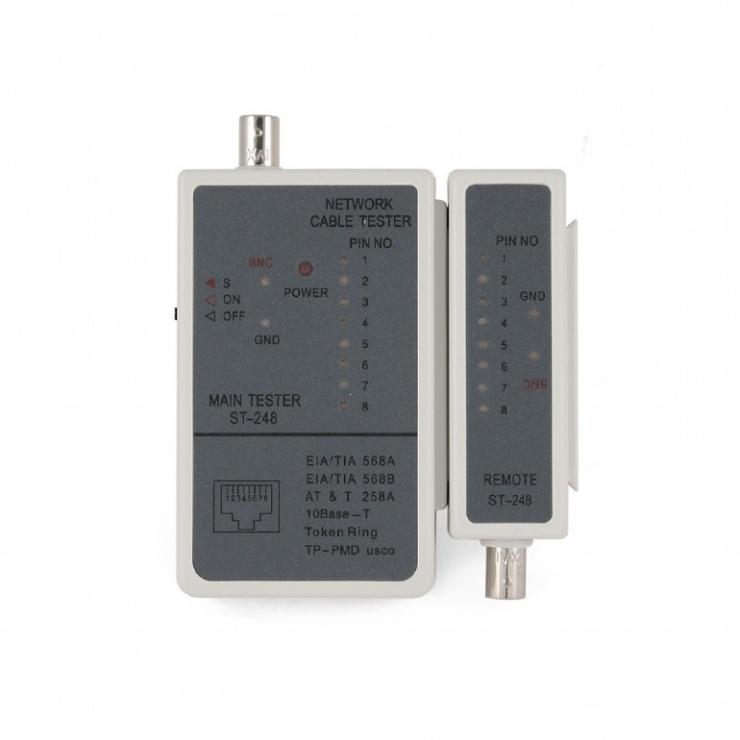Imagine Tester pentru cablu RJ 45, RG 58, Gembird NCT-1-3