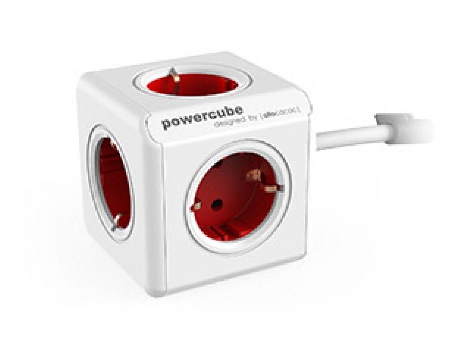 Imagine Prelungitor in forma de cub PowerCube Extended 5 prize 3m Rosu, Allocacoc