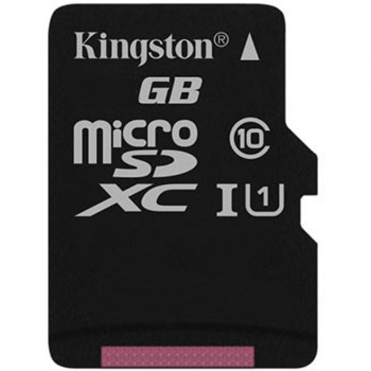 Imagine Card de memorie micro SDXC Canvas Select 128GB clasa 10, Kingston SDCS/128GBSP