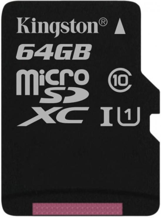 Imagine Card de memorie micro SDXC Canvas Select 64GB clasa 10, Kingston SDCS/64GBSP