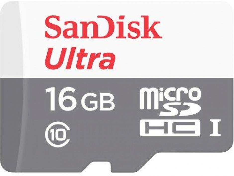 Imagine Card de memorie micro SDHC 16GB clasa 10, Sandisk Ultra