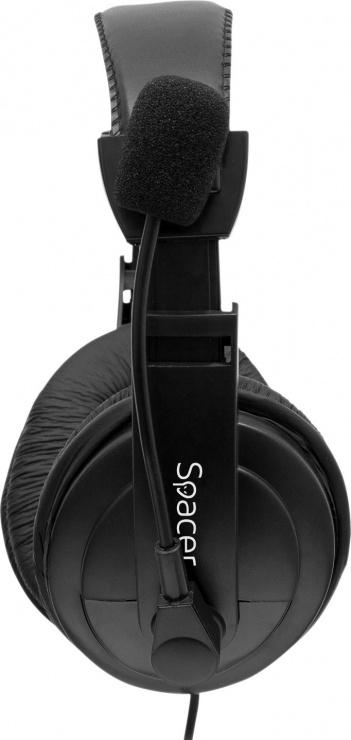 Imagine Casti cu microfon SPACER SPK-222, black