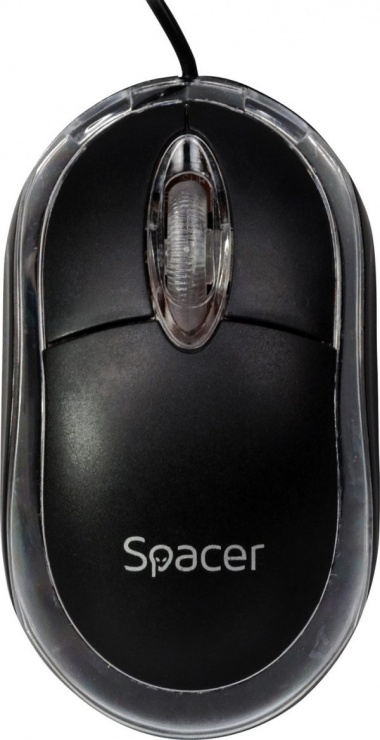 Imagine  Mouse optic USB cu LED albastru, Spacer SPMO-080