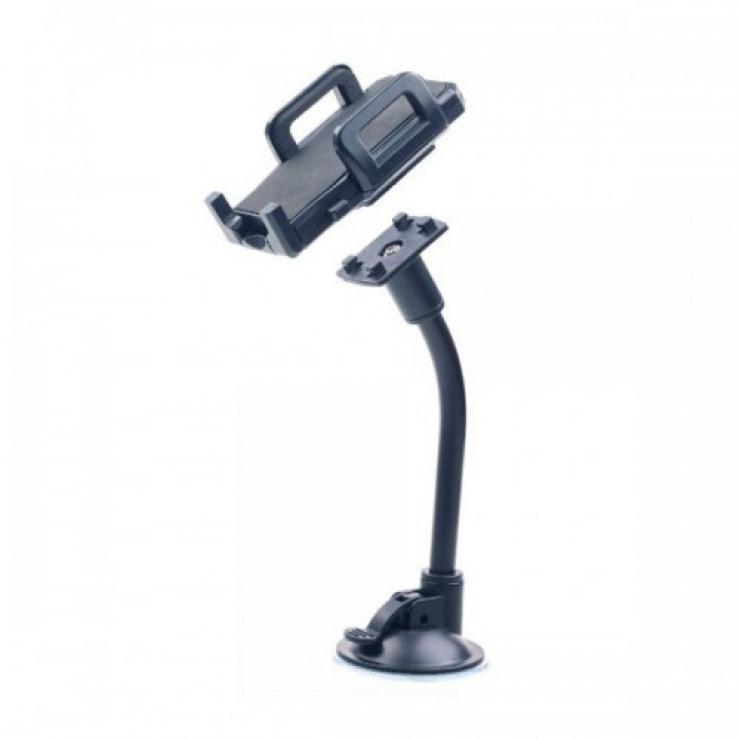 "Imagine Suport auto pentru Smartphone, universal pana la 6"", flexibil, black, Gembird TA-CHW-02"