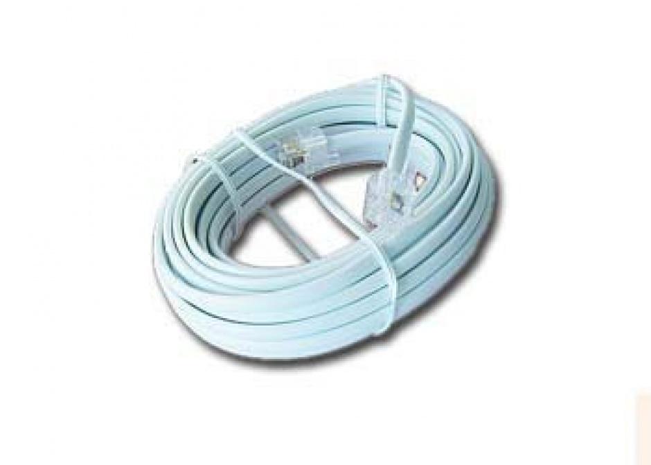 Imagine Cablu telefon RJ11 6P4C 3m Alb, Gembird TC6P4C-3M