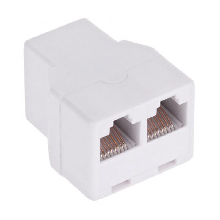 Imagine Spliter/multiplicator retea RJ45 8P8C la 2 x porturi RJ45 M-M, TEL0022-2