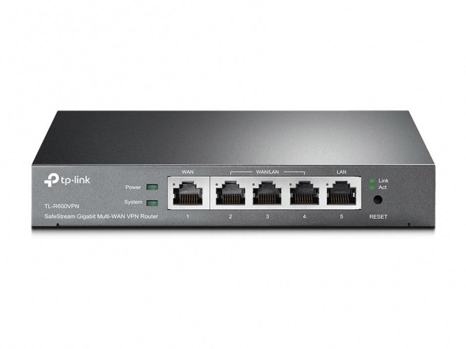 Imagine Router SafeStream Gigabit Multi-WAN Desktop VPN, TP-LINK TL-R600VPN