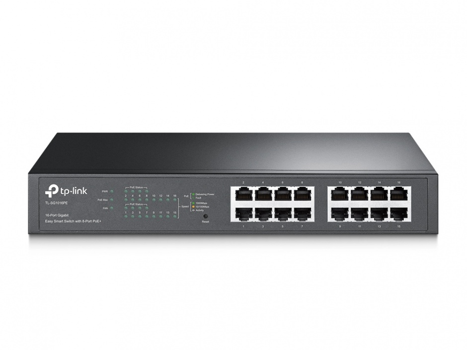 Imagine Switch PoE Gigabit Desktop/Rackmount 16 porturi, TP-LINK TL-SG1016PE