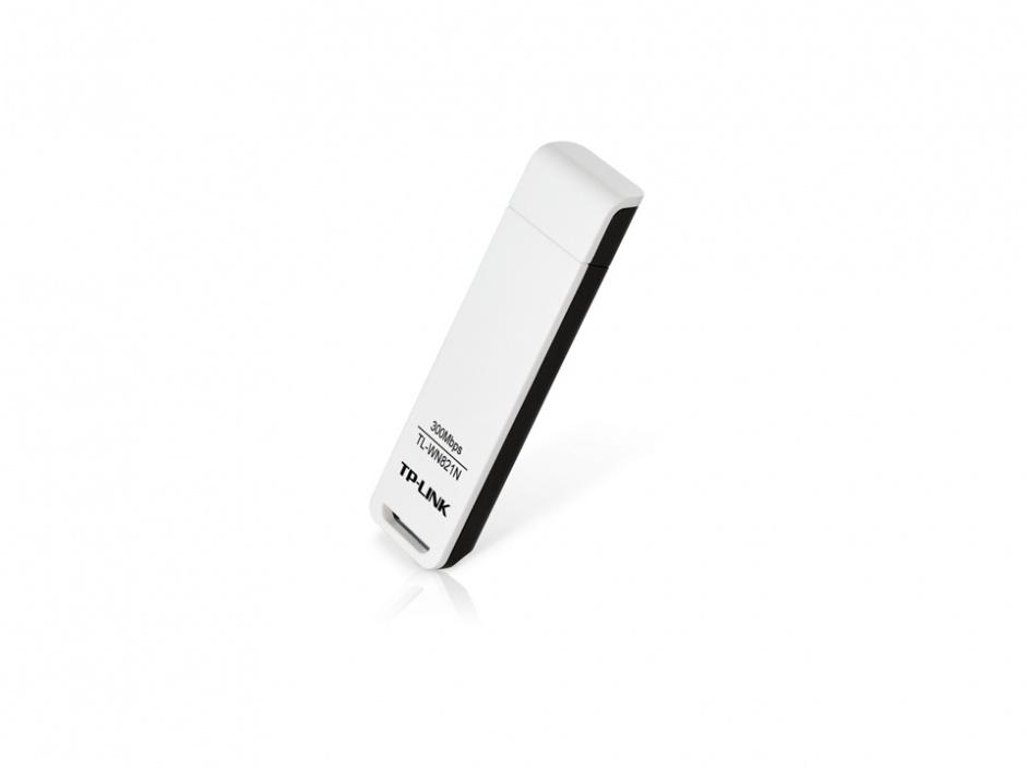 Imagine Placa Retea Wireless USB 300Mb/s, TP-LINK TL-WN821N-1