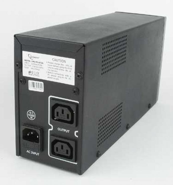 Imagine UPS Gembird 650VA cu AVR, Gembird UPS-PC-652A-1