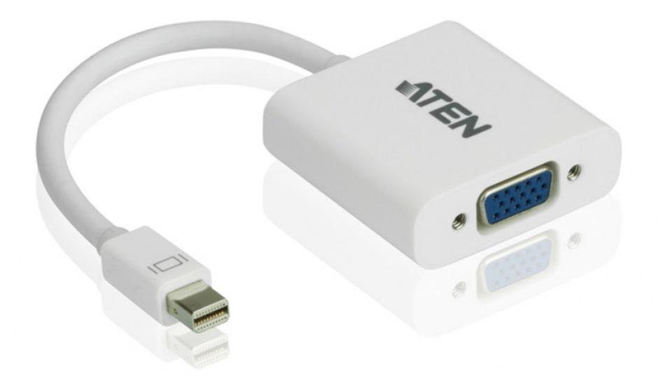 Imagine Adaptor Mini Displayport la VGA T-M Alb, ATEN VC920