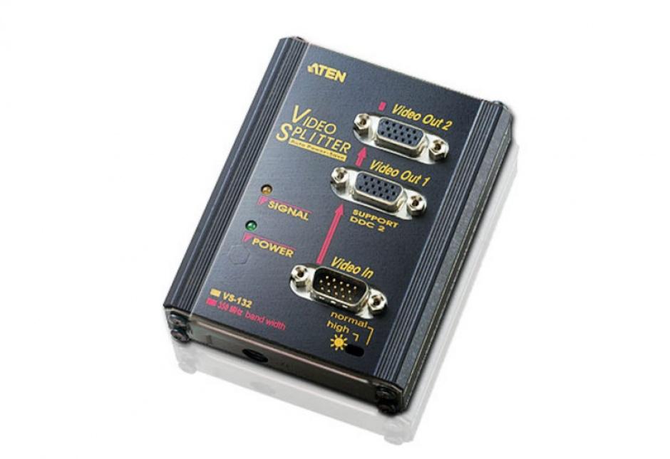 Imagine Multiplicator VGA 2 porturi 350MHz (montare perete), ATEN VS132