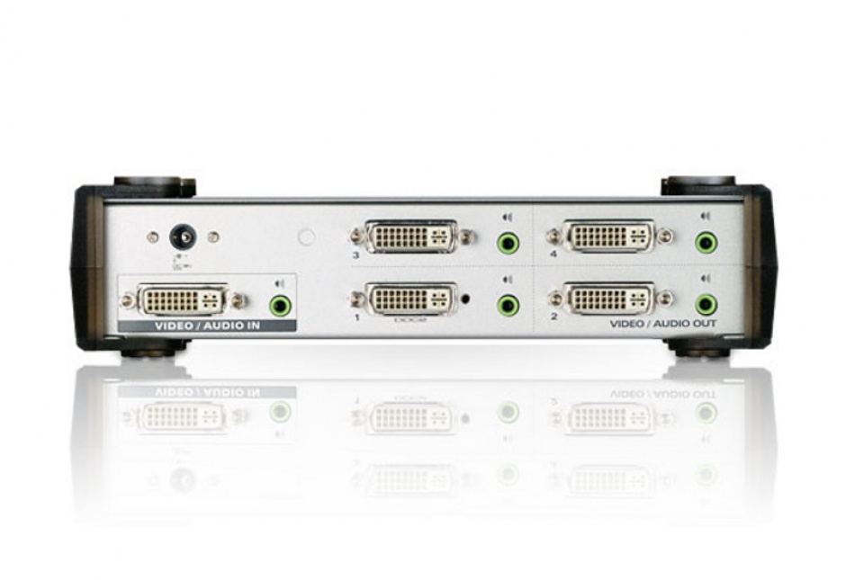 Imagine Multiplicator DVI 4 porturi cu audio, ATEN VS164-1