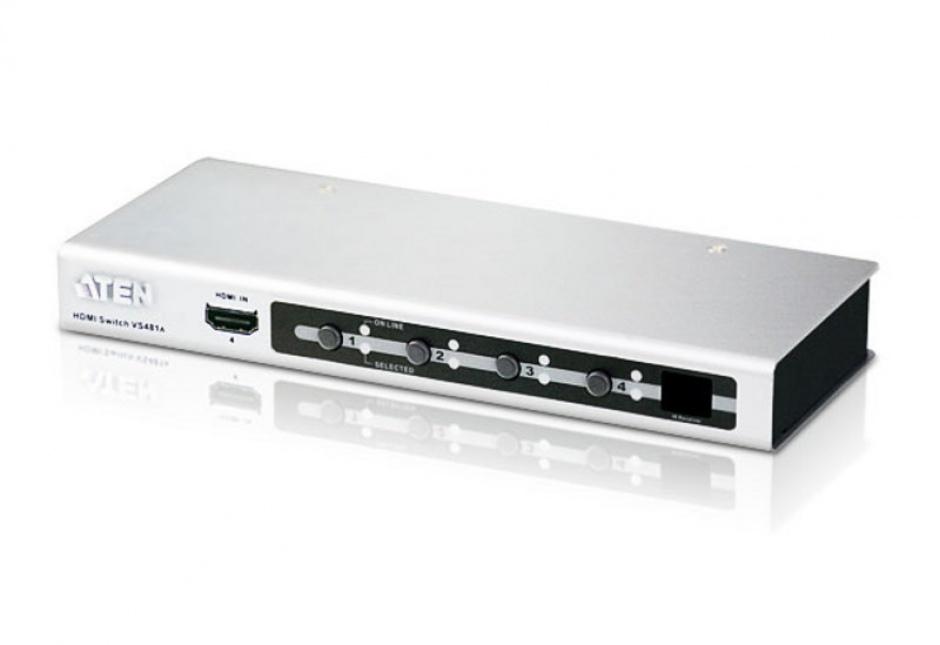 Imagine Switch HDMI 4 porturi cu telecomanda, ATEN VS481A