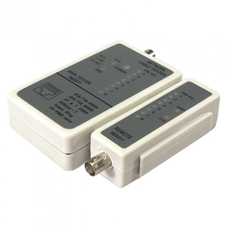 Imagine Tester retea RJ45 + BNC, Logilink WZ0011