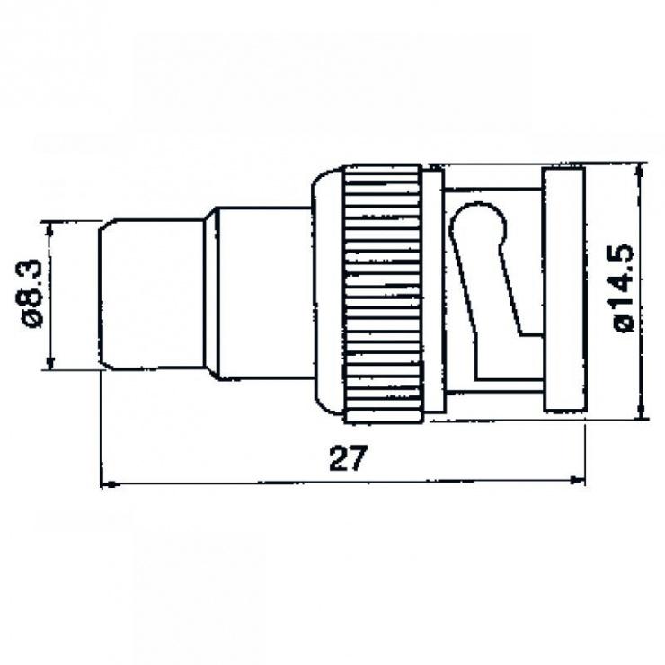 Imagine Adaptor BNC la RCA T-M, ZLA0479-1