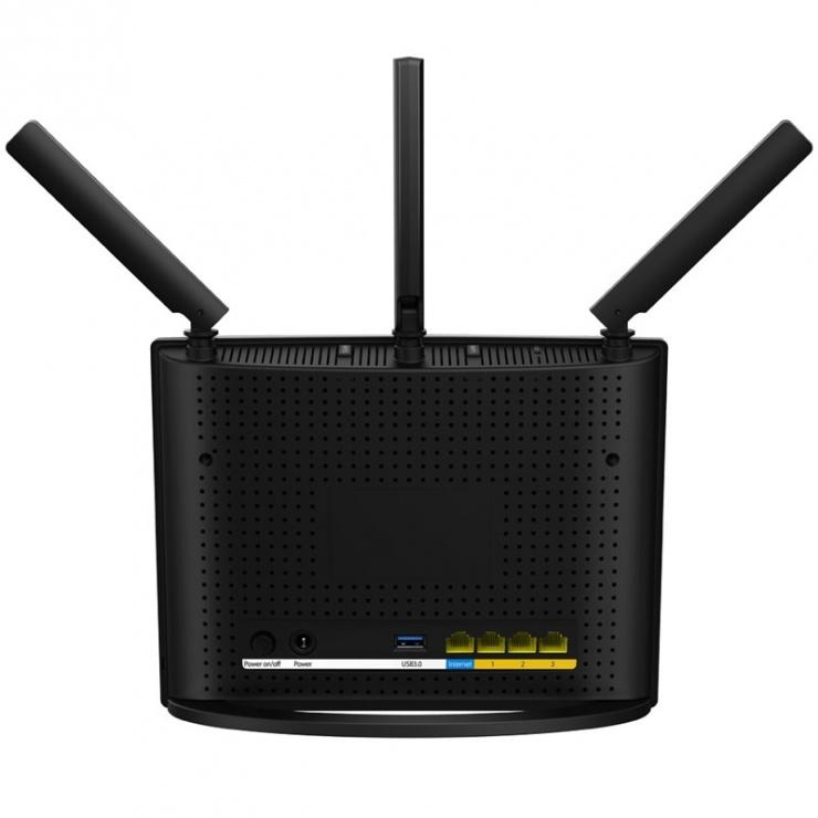 Imagine Router wireless Dual Band AC1900 3 antene 1900Mbps, Tenda AC15