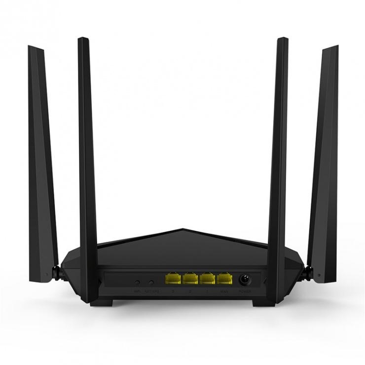 Imagine Router wireless Dual Band AC1200 4 antene 1200Mbps, Tenda AC10