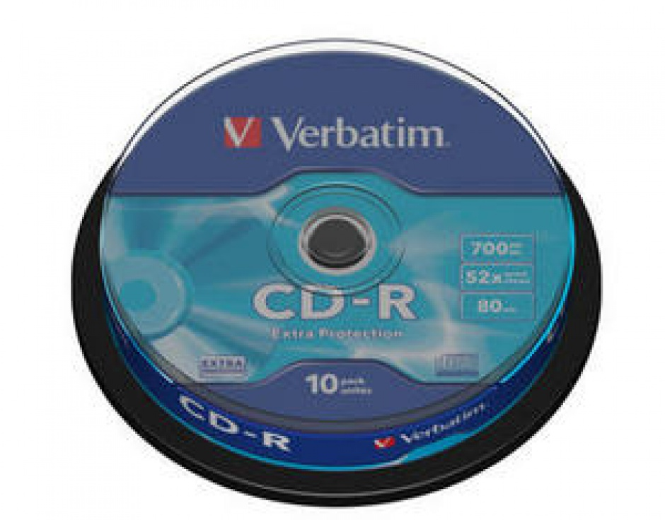 Imagine BLANK CD-R Verbatim DATALIFE 52X 700MB 10PK SPINDLE EXTRA PROTECTION