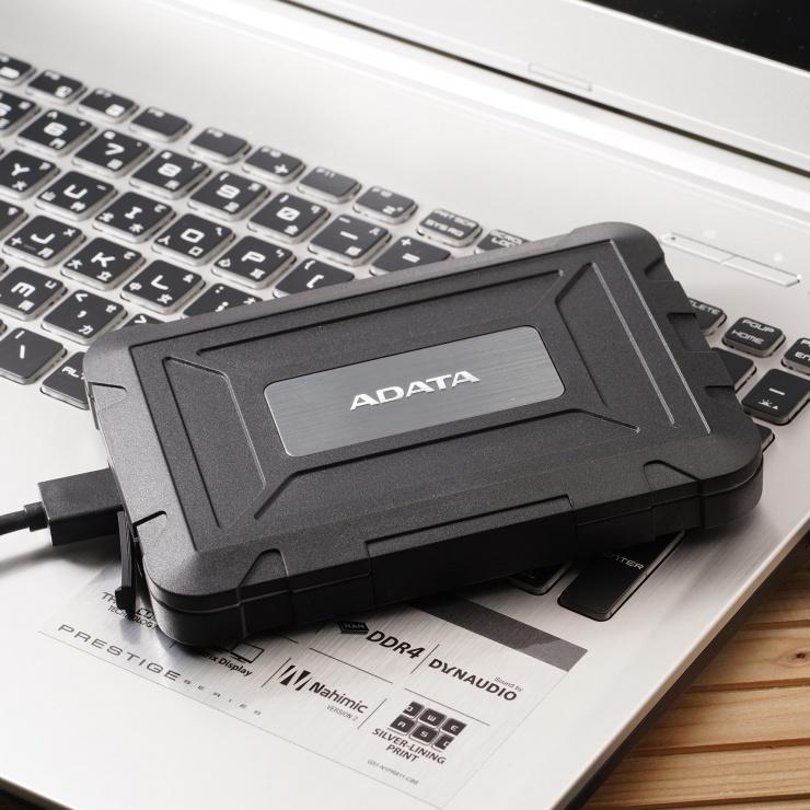 """Imagine Rack extern ED600 2.5"""" HDD SATA la USB 3.1, A-DATA AED600U31-CBK-5"""