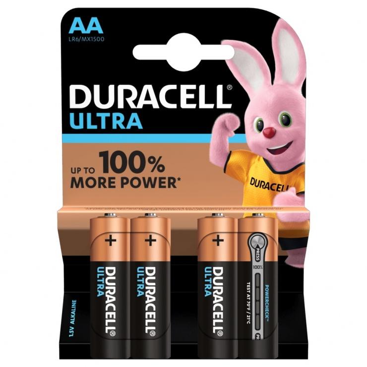 Imagine Set 4 buc baterii AA LR6 Duracell Ultra Alkaline
