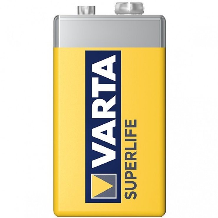 Imagine Baterie Varta 9V Superlife Zinc-Carbon