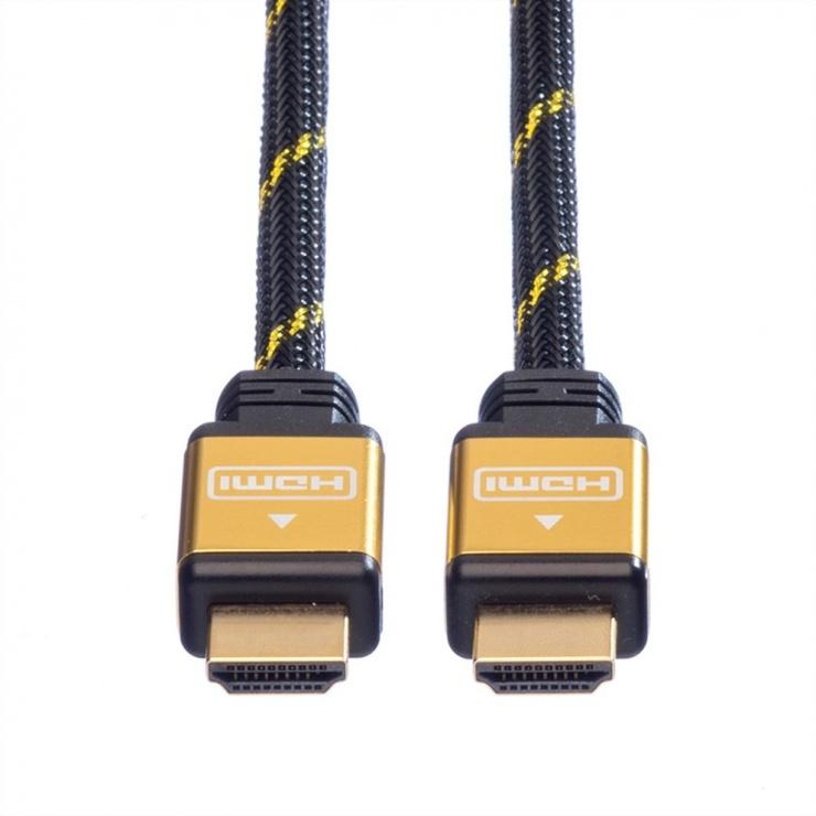 Imagine Cablu HDMI Gold 4K@30Hz T-T 2m, Roline 11.04.5502-1