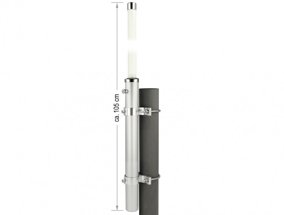 Imagine Antena GSM UMTS N Jack 7 dBi 75.6 cm omnidirectional pentru perete/exterior, Delock 12500