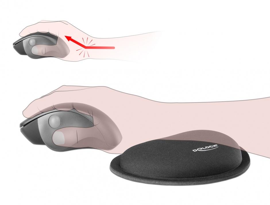 Imagine Suport pentru incheietura mainii pentru mouse Negru, Delock 12602