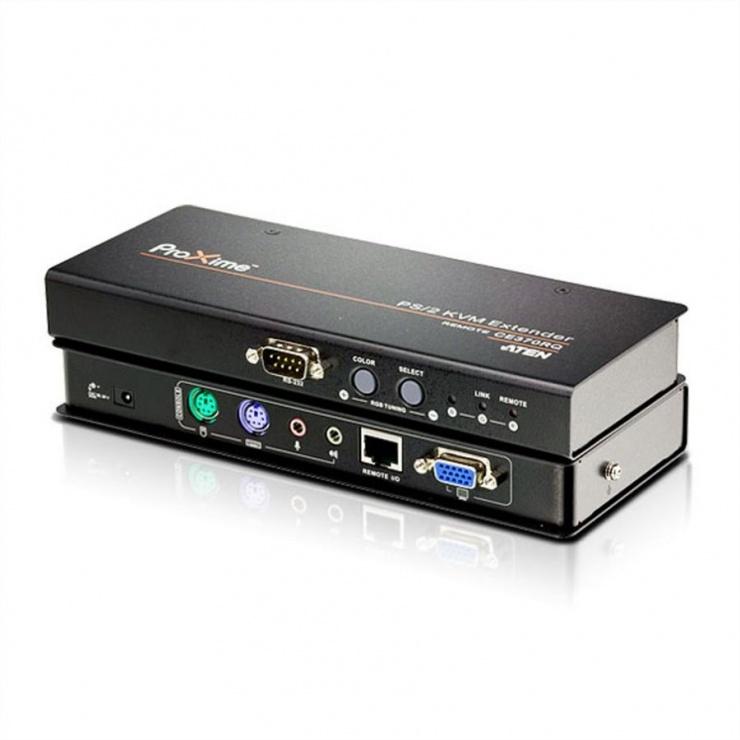 Imagine KVM Extender PS/2 VGA/Audio Cat 5 cu Deskew de pana la 300m, Aten CE370
