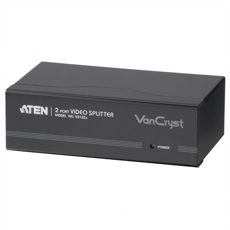 Imagine Multiplicator VGA 2 porturi, 450Mhz, ATEN VS132A