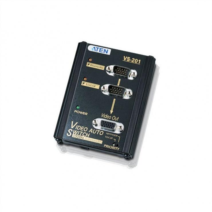 Imagine Switch VGA Wall Plate 2 porturi, Aten VS201