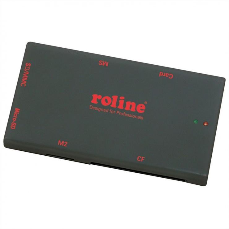 Imagine Mini cititor de carduri USB 2.0 50+ Negru, Roline 15.08.6247-1