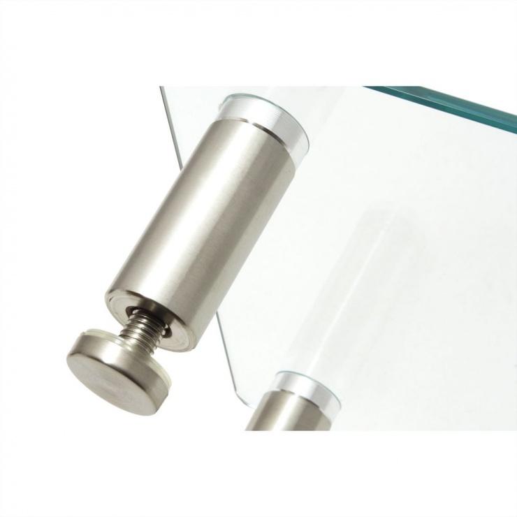 Imagine Stand monitor LCD geam securizat dreptunghi cu picioare ajustabile, Roline 17.02.3376