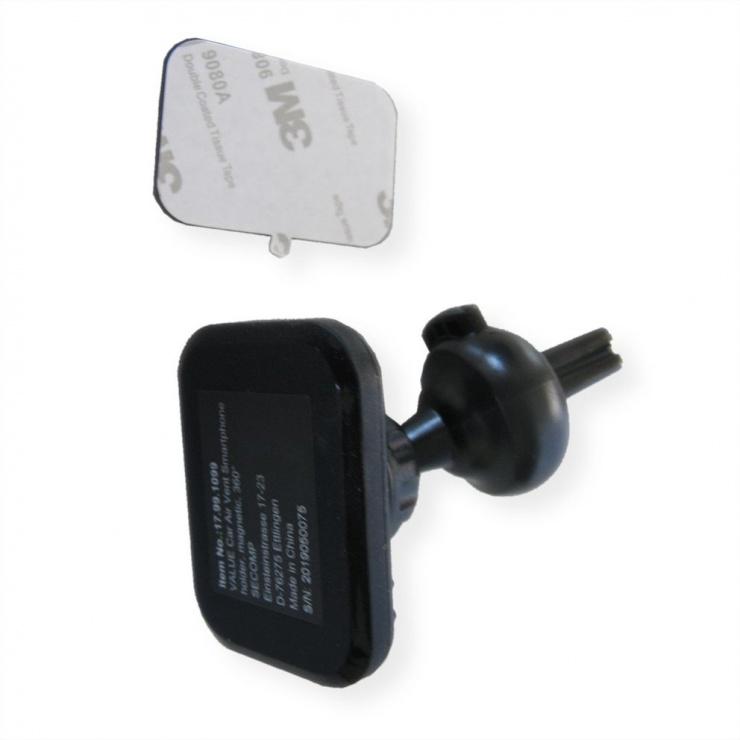 Imagine Suport auto pentru smartphone rotabil, montare ventilator, Value 17.99.1099